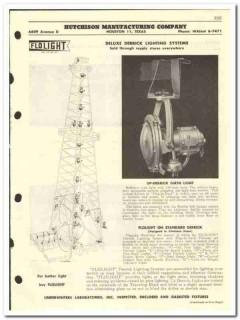 Hutchison Mfg Company 1959 vintage oil gas catalog derrick lighting