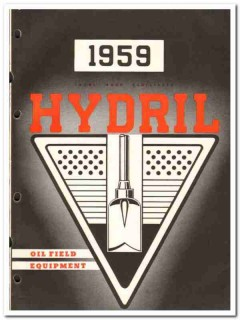 Hydril Company 1959 vintage oil gas catalog oilfield equipment pump