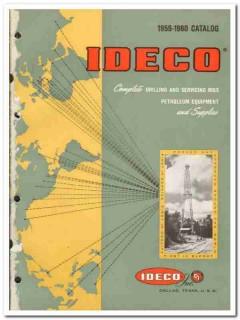 Ideco Inc 1959 vintage oil catalog oilfield rotary drilling equipment