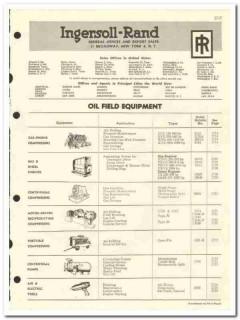 Ingersoll-Rand 1959 vintage oil gas catalog oilfield equipment engines