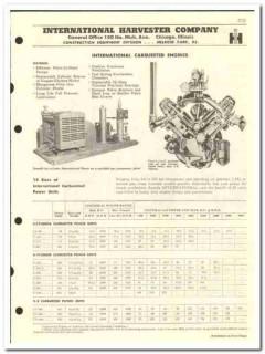 International Harvester Company 1959 vintage oil catalog engines power