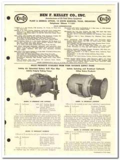 Ben F Kelley Company 1959 vintage oil catalog oilfield safety KelCo