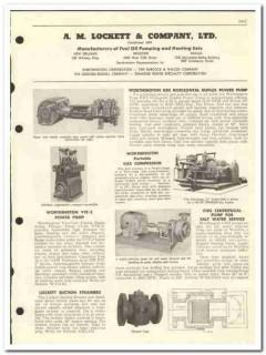 A M Lockett Company 1959 vintage oil gas catalog pumps compressors