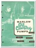 Bell Gossett Company 1959 vintage oil catalog oilfield Marlow Pumps
