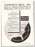 Ashworth Bros Inc 1938 vintage textile ad American Card Clothing