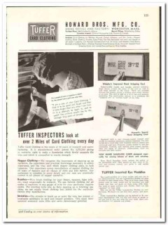 Howard Bros Mfg Company 1938 vintage textile ad card clothing Tuffer