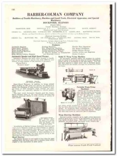 Barber-Colman Company 1938 vintage textile ad spooler warper knotter