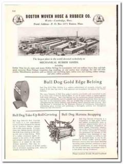 Boston Woven Hose Rubber Company 1938 vintage textile ad belting