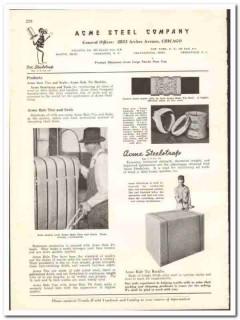 Acme Steel Company 1938 vintage industrial ad steelstrap ties seals