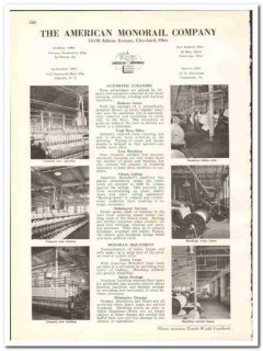 American Monorail Company 1938 vintage textile ad overhead handling