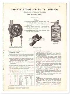 Babbitt Steam Specialty Company 1938 vintage industrial ad sprocket