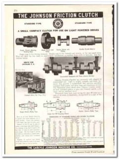 Carlyle Johnson Machine Company 1938 vintage industrial ad clutches