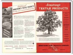 Armstrong Cork Products Company 1938 vintage textile ad cots spinning
