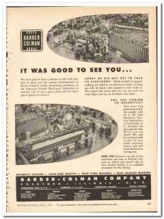 Barber-Colman Company 1954 vintage textile ad machinery exhibition