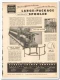Barber-Colman Company 1954 vintage textile ad automatic spooler