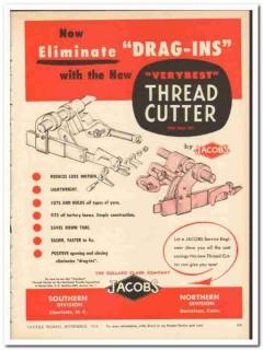 Bullard Clark Company 1954 vintage textile ad Jacobs thread cutter
