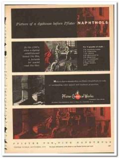 Pfister Chemical Works Inc 1954 vintage textile ad dyers Naphthols