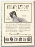 Aluminum Seal Company 1935 vintage glass bottle ad protected cheats