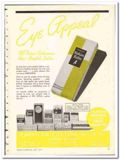 American Coating Mills Inc 1935 vintage box ad carton eye-appeal