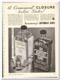Armstrong Cork Products Company 1935 vintage glass ad Artmold Caps
