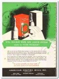 American Coating Mills Inc 1935 vintage box ad carton package holiday
