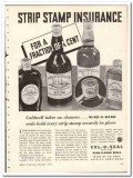 Armstrong Cork Products Company 1935 vintage glass ad Wind-O-Band seal