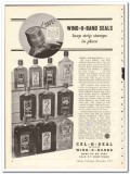 Armstrong Cork Products Company 1935 vintage glass ad Wind-O-Band safe