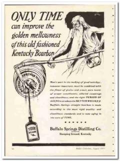 Buffalo Springs Distilling Company 1935 vintage whiskey ad Bourbon
