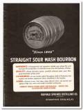 Buffalo Springs Distilling Company 1935 vintage whiskey ad sour mash