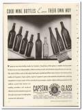 Capstan Glass Company 1935 vintage bottle ad wine