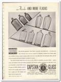 Capstan Glass Company 1935 vintage bottle ad flasks