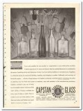 Capstan Glass Company 1935 vintage bottle ad wine liquor spotlight