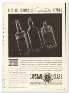 Capstan Glass Company 1935 vintage bottle ad electric heating anneal