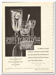 Commercial Solvents Corp 1935 vintage whiskey ad Rossville reflection