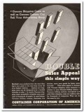 Container Corp of America 1935 vintage box ad Concora Shipping Cases