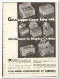 Container Corp of America 1935 vintage box ad cartons miniatures