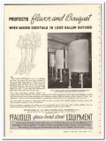 Pfaudler Company 1935 vintage glass ad protects flavor bouquet
