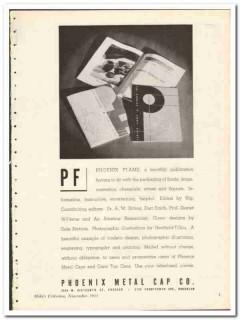 Phoenix Metal Cap Company 1935 vintage glass ad packaging wine liquor