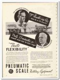 Pneumatic Scale Corp 1935 vintage glass ad bottling fills caps labels