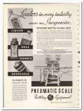 Pneumatic Scale Corp 1935 vintage glass ad bottle filling vacuum Samco