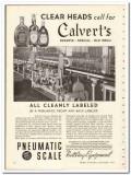 Pneumatic Scale Corp 1935 vintage glass ad bottle labeler Simplex