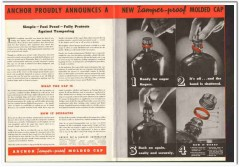 Anchor Cap Closure Corp 1935 vintage glass ad tamper-proof molded wine