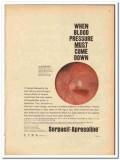 Ciba 1959 vintage medical ad Serpasil-Apresoline blood pressure down