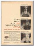 Ciba 1959 vintage medical ad Pyribenzamine Lontab allergy