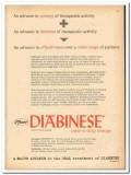 Chas Pfizer Company 1959 vintage medical ad Diabinese diabetes