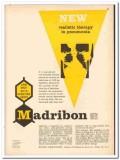 Hoffmann-La Roche Inc 1959 vintage medical ad Madribon pneumonia