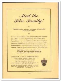 American Viscose Corp 1941 vintage textile ad Fibro rayon staple fiber