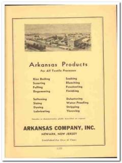 Arkansas Company 1941 vintage textile ad Kier boiling scouring soaking