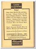 Ashworth Bros Inc 1938 vintage textile ad American Card Clothing wool