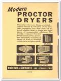 Proctor Schwartz Inc 1941 vintage textile ad Dryers roller impact loop